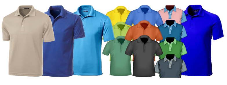 Unisex Polo-shirts, Duo Tone Polo-shirts, Short Sleeve Polo-shirts, Rugby shirts